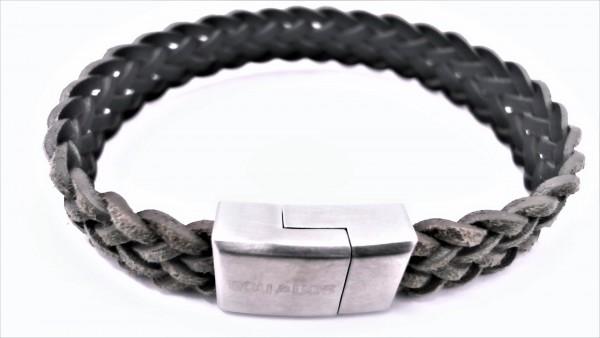 Herrenarmband Lederarmband Stahl