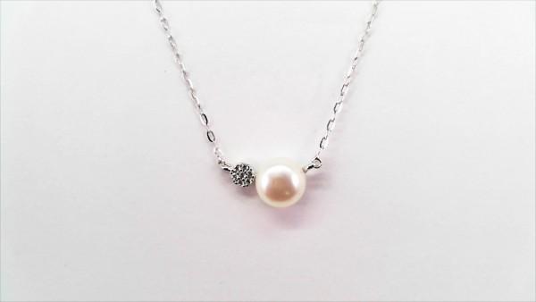 Collier mit Perle 333 GG