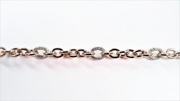 Armband 925 AG bic. rosé/weiss