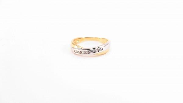 Damenring Mehrsteiner 375 GG/WG