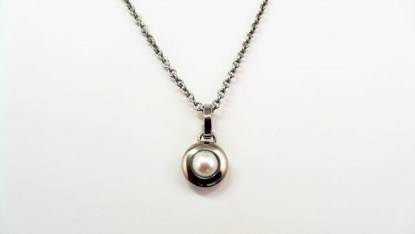 Collier mit Perle Titan