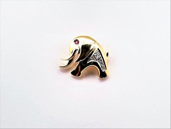 Anhänger-Tiere Elefant 585 GG