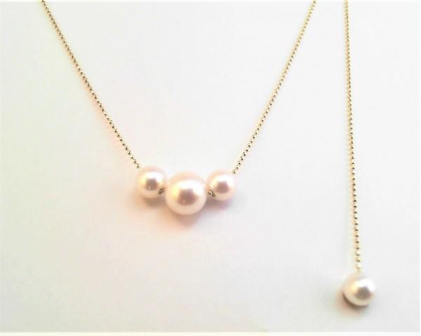 Collier mit Perle 585 GG