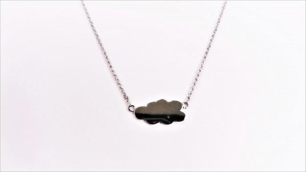Collier mit Behang Gravurplatte 925 Ag rhodiniert