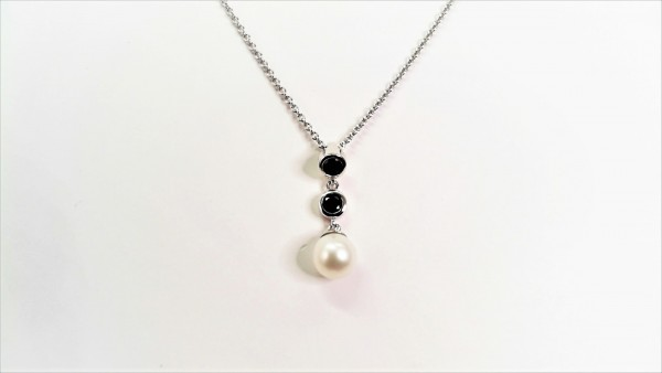 Collier mit Perle 925 Ag
