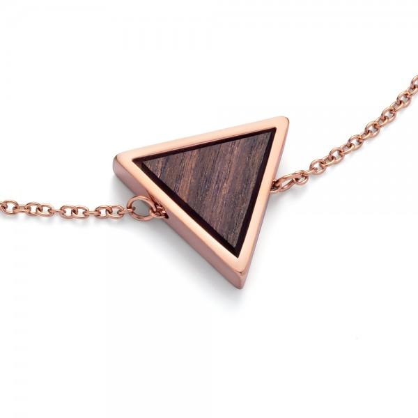 Collier ohne Stein Triangle Necklage Sandalwood Ro Stahl