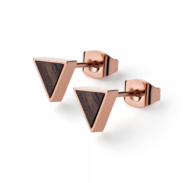 Ohrstecker ohne Stein Triangle Earring Sandalwood Ros Stahl