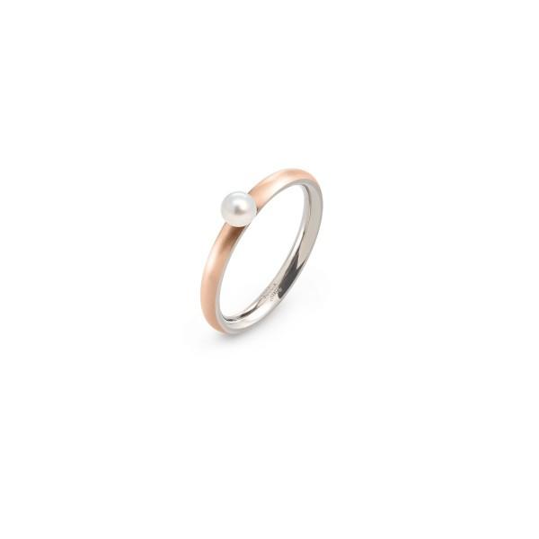 Damenring / Perle Titan rose