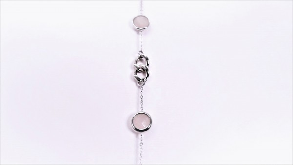 Armband Farbsteine 925 Ag rhodiniert
