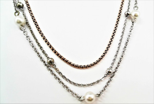 Collier mit Perle Stahl