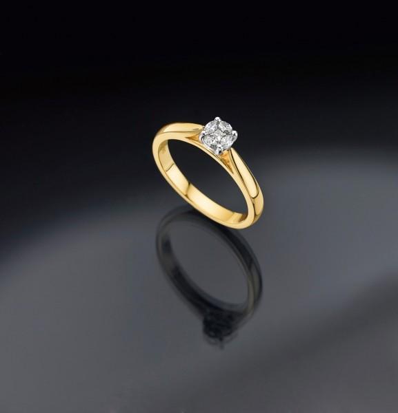 Damenring Mehrsteiner 585 GG/WG