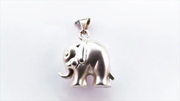 Anhänger ohne Stein Elefant 925 Ag