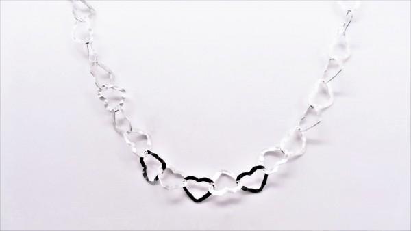 Collier ohne Stein Herz 925 Ag rhodiniert