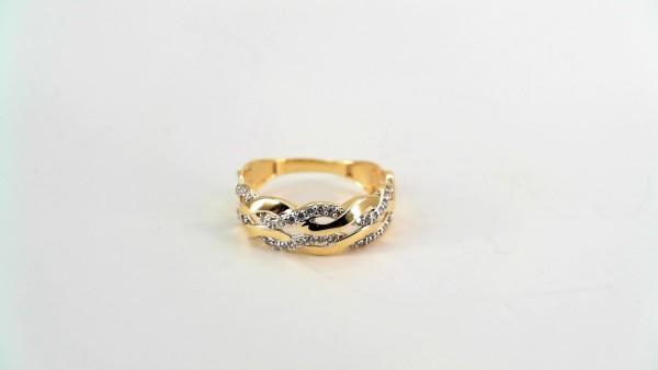 Damenring Mehrsteiner 333 GG/Rhodiniert