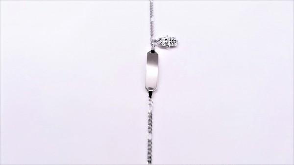 Identband Hand 925 Ag rhodiniert