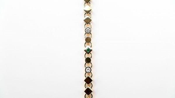 Armband Farbsteine 585 GG
