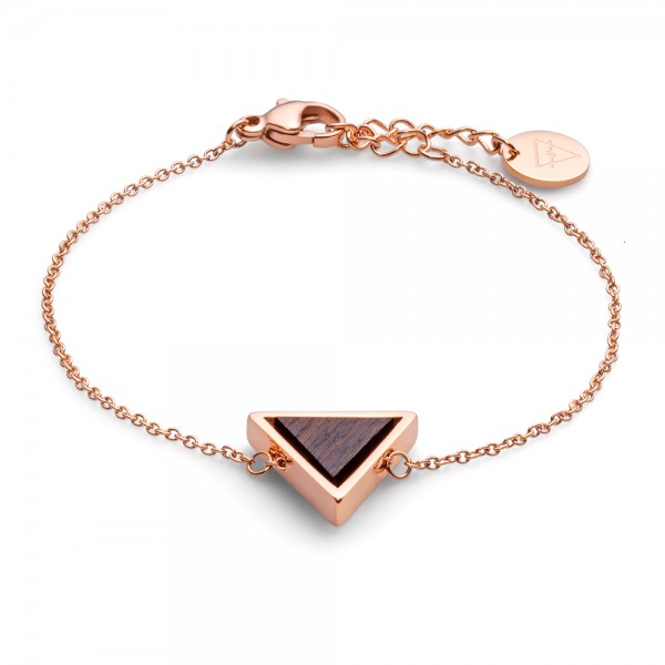 Armband Triangle Bracelet Sandelwood Rose Edelstahl/Holz