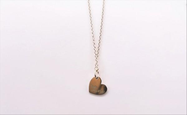 Collier mit Behang Herz 925 Ag rhodiniert
