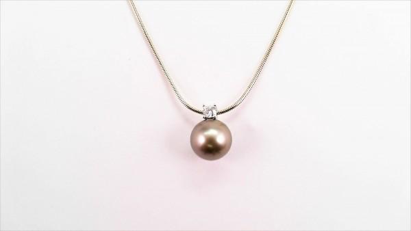 Collier mit Perle 585 GG/WG