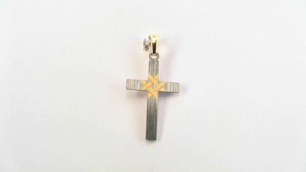 Anhänger-Kreuz Titan Gold 585 GG