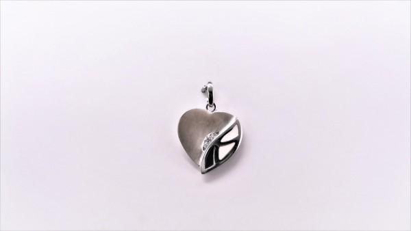 Anhänger-Herz Herz 925 Ag rhodiniert
