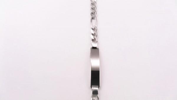 Identband 925 Ag rhodiniert