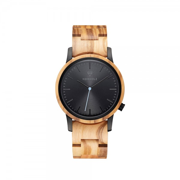 Herrenuhr analog Walter Olive Midnight Black Edelstahl/Holz