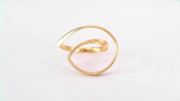 Damenring ohne Stein 925 AG gelb vergoldet