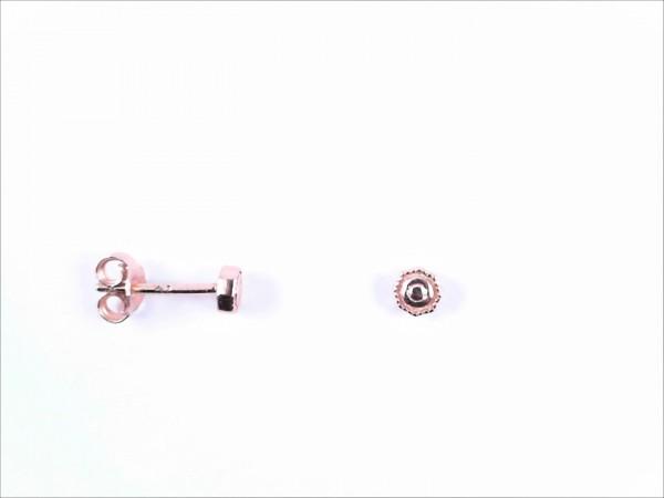 Ohrstecker ohne Stein 925 Ag Rosé vergoldet