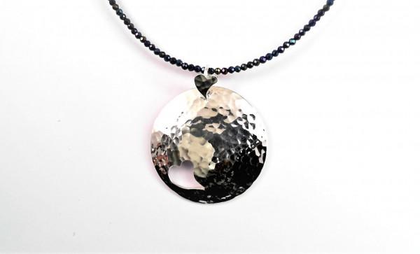 handgearbeitetes Collier 925 Silber mit Spinell