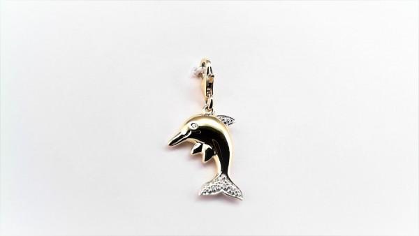 Charms Delfin 585 GG/Rhodiniert