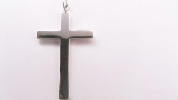 Anhänger-Kreuz 925 Ag rhodiniert