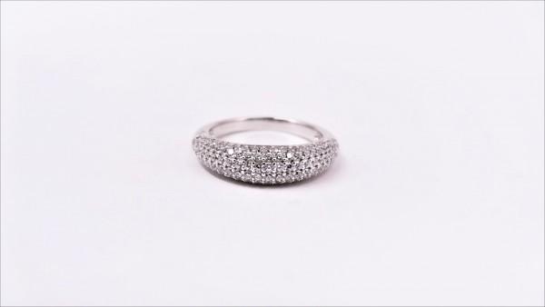 Damenring Mehrsteiner Bandring 925 Ag rhodiniert