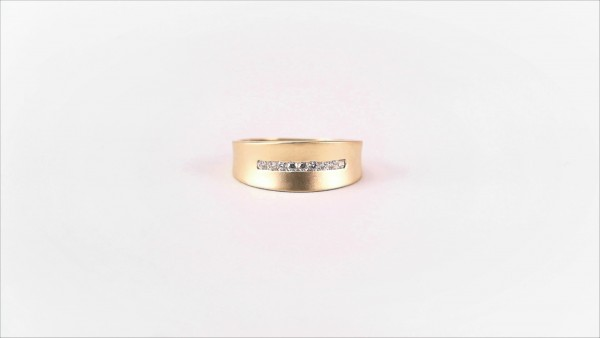 Damenring Mehrsteiner Bandring 333 GG